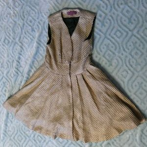 Sweet Sinammon Gold Brocade Winter Dress Size M